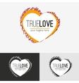 Love logo concept vector image vector image