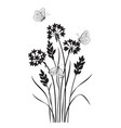 monochrome composition with butterflies vector image