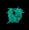 monster headphone gaming mascot vector image vector image