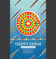 onam boat festival background south india kerala vector image