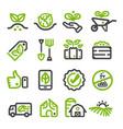 organic farmorganic vegetable line icon vector image vector image