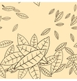 pattern fly leaves seamless background vector image