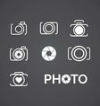 Photo logos vector image vector image