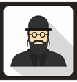 Rabbi icon in flat style vector image vector image