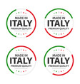 set four italian icons english title vector image vector image
