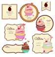set of labels with sweets a sticker for vector image vector image