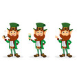 set of smiling cartoon character leprechaun vector image vector image