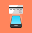 Smartphone commerce concept Isometric design vector image