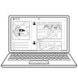 social network coloring book vector image