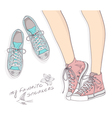 sports fashion shoes vector image vector image