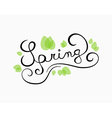 Spring calligraphy vector image vector image