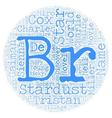 Stardust text background wordcloud concept vector image