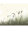 summer meadow sep vector image vector image