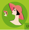 The girl in a hat vector image vector image