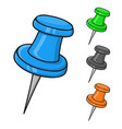 thumbtacks colored doodle style vector image vector image