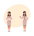 two woman doctors in medical coats blank board vector image vector image
