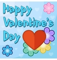 Valentines day card with flowers and hearts vector image vector image