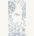 vertical italian pizza menu banner on white pizza vector image vector image