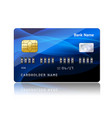Credit card with security combination code vector image