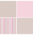 4 delicate seamless patterns vector image vector image