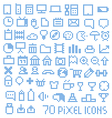 70 pixel web icons vector image vector image