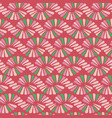 abstract seamless nature ribbon pigtail red vector image