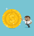 african businessman with dollar coin vector image vector image