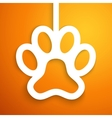 Applique dog track icon frame vector image vector image
