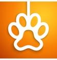 Applique dog track icon frame vector image