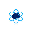 atom brain logo icon design vector image