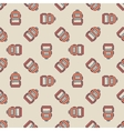 Backpack seamless pattern vector image