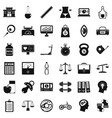 balance icons set simple style vector image vector image