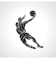 Basketball player Slam Dunk Silhouette vector image vector image