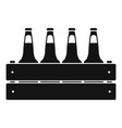 beer crate icon simple style vector image vector image