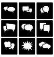 black speech bubbles icon set vector image vector image