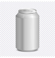 blank aluminum soda can on transparent background vector image