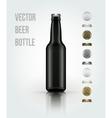 Blank glass beer bottle for new design vector image vector image