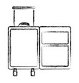 blurred thick silhouette of opened empty suitcase vector image