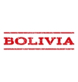 Bolivia Watermark Stamp vector image vector image