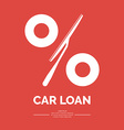 Car loan vector image