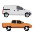 Car vechicle mini van transport vector image vector image