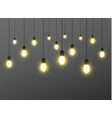 christmas lights isolated realistic design vector image vector image