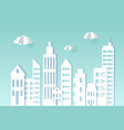 cityscape paper art style city concept vector image vector image