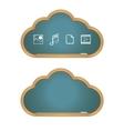 Cloud Computing on Blackboard vector image