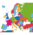 Colorful Europe map vector image vector image