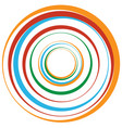 concentric circle rings suitable as an abstract vector image vector image