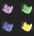 Crystal icon set vector image