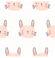 cute rabbit pattern vector image