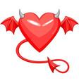 devil love horned heart vector image