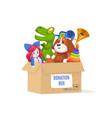 donation cardboard box volunteer community vector image